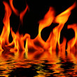 Fire and water — Stock Photo
