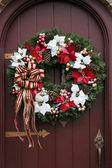 Holiday wreath — Stock Photo