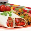 bean burrito — Stock Photo