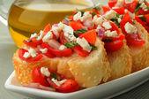 Bruschetta Appetizer — Stock Photo