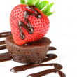 Stock Photo: Fruit and Chocolate