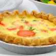 Smoked Salmon Quiche — Stock Photo
