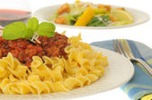Pasta and Meat Sauce — Stock Photo