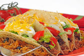 Tacos and Rice — Stock Photo