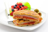 Breakfast Panini — Stock Photo