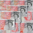 Fifty Pound Notes - Great Britain — Stock Photo