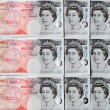 Fifty Pound Notes - Great Britain - Stock Photo