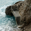 Staircase Over the Rocks - Stock Photo