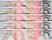 Fifty Pound Notes - Great Britain — Stok fotoğraf