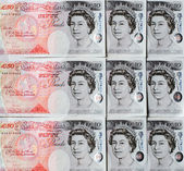 Fifty Pound Notes - Great Britain — Stockfoto