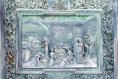 Bronze Panel, Pisa Cathedral, Italy — Stock Photo