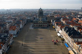 Delft Town Square and Town Hall — Stock Photo