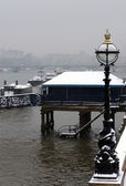 Winter on the River Thames, London — Stock Photo