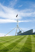 The flag pole above Parliament House, Canberra, Australia — Stock Photo