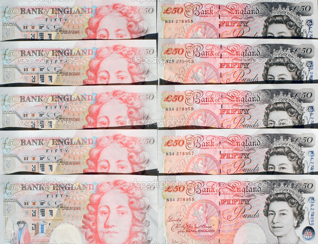 Fifty Pound Notes - Great Britain — Foto de Stock   #2225226