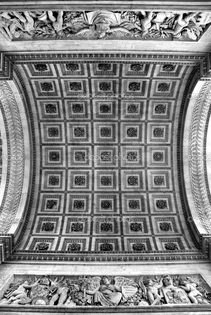 The ceiling of the Arc de Triomphe, Paris, France — Stock Photo #2225762