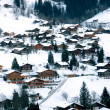Chalets in the Snow — Stock Photo