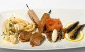 Entree Tasting Plate — Stock Photo