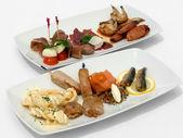 Entree Tasting Plates — Stock Photo
