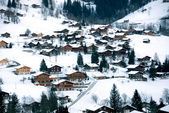 Chalets in the Snow — Foto de Stock
