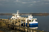 Berthed at the Wharf — Stock Photo