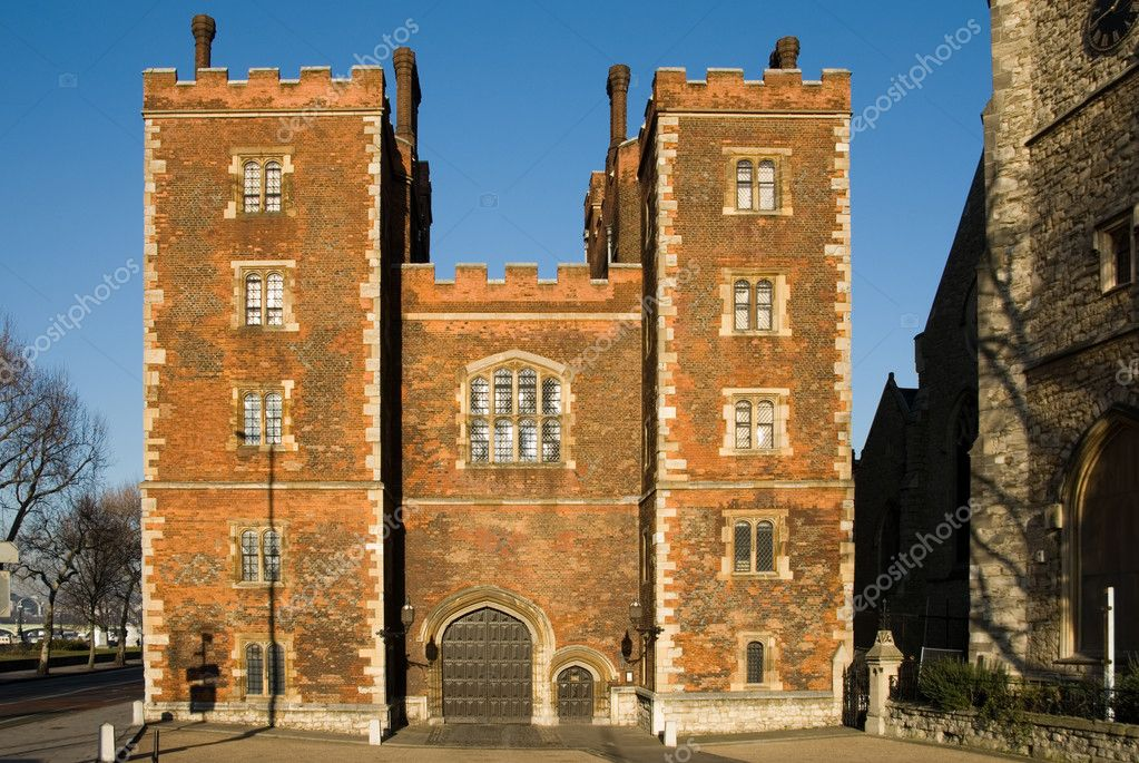 Morton's Tower Gatehouse - Lambeth Palace, London, England  Stock Photo #2235629
