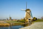 Dutch Windmill — Стоковое фото