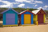 Beach Huts — Stock Photo