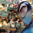 Murano sculpture in crystal shop — Stock Photo