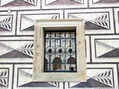 Wrought iron window in Prague — Stock Photo
