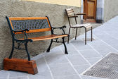 Seats on the street in Tuscany, Italy — Stock Photo