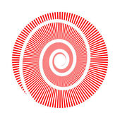 Vector image of circle and spiral — Stock Vector