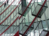 Glass and steel building in Berlin — Stock Photo