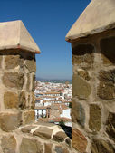 View through merlons in Andalusia — Stock Photo