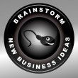 Brainstorm — Stockvectorbeeld