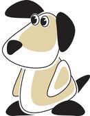 Cartoon Puppy - logotype style — Stock Vector