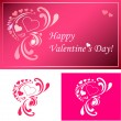 Stock Vector: Valentine card and decor