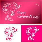 Sevgililer günü kartı ve dekor — Stok Vektör