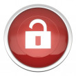 Stock Photo: Lock Off Icon