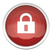 Lock On Icon — Stock Photo