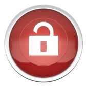 Lock Off Icon — Stock Photo