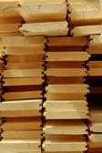 Wooden board siding — Stock Photo