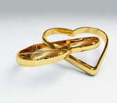 Rings in love — Stock Photo