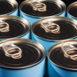 Ring Pull Cans - Stock Photo