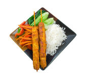 Chicken Satay Meal — Stock Photo