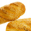 Baguette over white background — Stock Photo