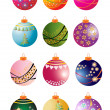 Christmas Bauble Collection — Stockfoto