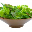 Mixed Salad Greens over white — Stock Photo