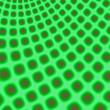 Neon Green Curved Grid fractal — ストック写真