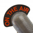 On The Air Microphone - Stock Photo